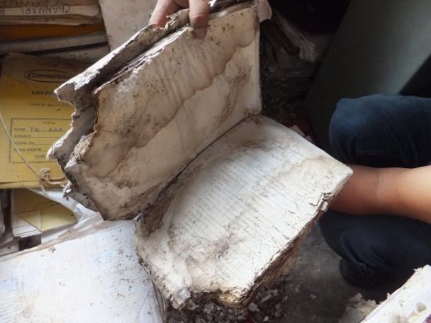 Damaged manuscript - EAP454