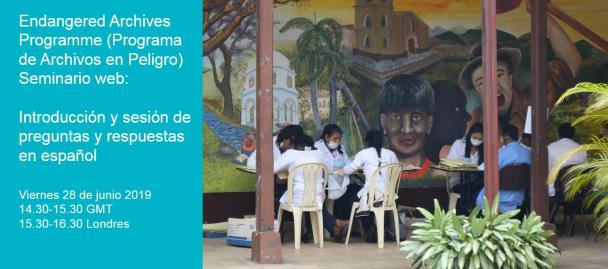 Spanish language webinar - 28 June 2019