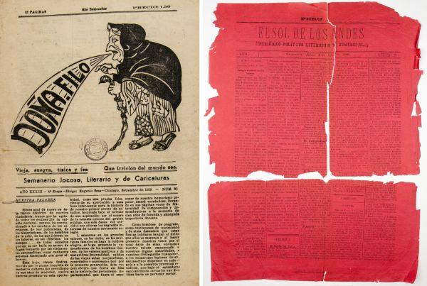 Images from two newspapers digitised for this project