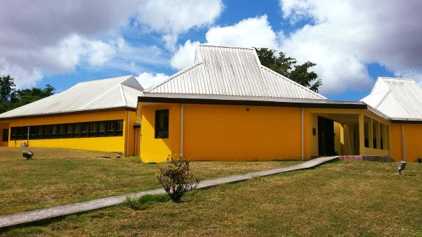 View of the exterior of the National Archives of Antigua